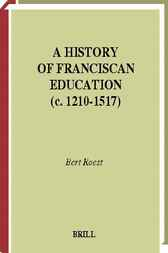 A history of Franciscan education (c. 1210-1517) by B. Roest