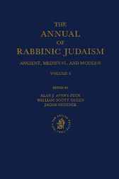 The annual of rabbinic Judaism by A.J. Avery-Peck