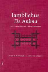 Iamblichus De anima by J.F. Finamore