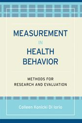 Measurement in Health Behavior by Colleen Konicki DiIorio
