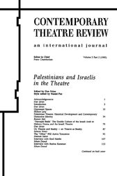 Palestinians and Israelis in the Theatre by Dan Urian