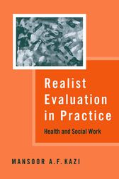 Realist Evaluation in Practice by Mansoor A F Kazi