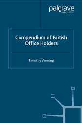 Compendium of British Office Holders by Timothy Venning
