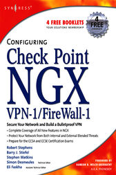 Configuring Check Point NGX VPN-1/Firewall-1 by Barry J Stiefel
