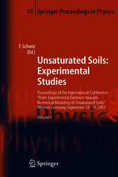 Unsaturated Soils: Experimental Studies by Tom Schanz