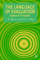 The Language of Evaluation by James R. Martin