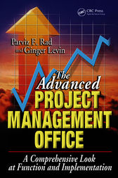 The Advanced Project Management Office by Parviz F. Rad