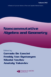Noncommutative Algebra and Geometry by Corrado De Concini