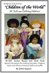 18 Children of the World Cloth Dolls by JoAnn Gagnon