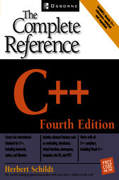 C++: The Complete Reference, 4th Edition by Herbert Schildt