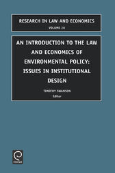 Introduction to the Law and Economics of Environmental Policy by unknown