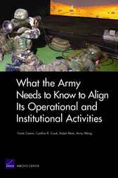 What the Army Needs to Know to Align Its Operational and Institutional Activities by Frank Camm