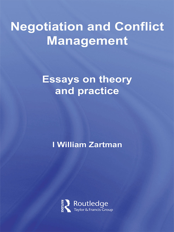 Download Ebook Negotiation and Conflict Management by I. William Zartman Pdf