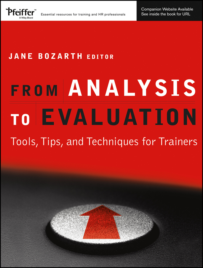 Download Ebook From Analysis to Evaluation by Jane Bozarth Pdf