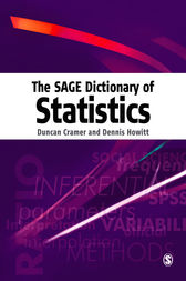 The SAGE Dictionary of Statistics by Duncan Cramer