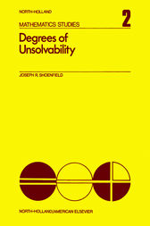 Degrees of Unsolvability by Joseph R. Shoenfield