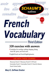 Schaum's Outline of French Vocabulary, 3ed by Mary Crocker