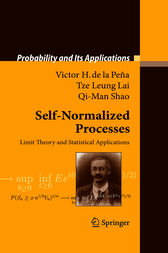 Self-Normalized Processes by Victor H. Peña