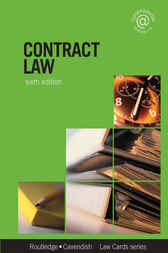 Contract Lawcards 6/e by Routledge
