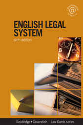 English Legal System Lawcards 6/e by Routledge