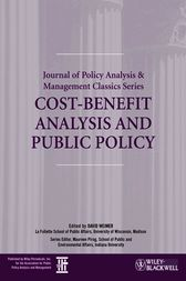 Cost-Benefit Analysis and Public Policy by David Weimer