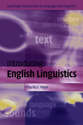 Introducing English Linguistics by Charles F. Meyer