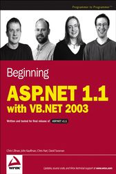 Beginning ASP.NET 1.1 with VB.NET 2003 by Chris Ullman