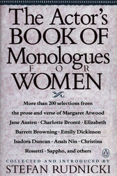 The Actor's Book of Monologues for Women by Various;  Stefan Rudnicki