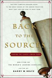 Back To The Sources by Barry W. Holtz