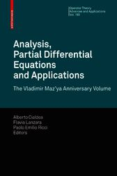 Analysis, Partial Differential Equations and Applications by Alberto Cialdea