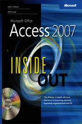 Microsoft® Office Access™ 2007 Inside Out by Jeff Conrad