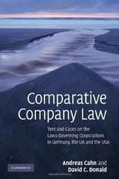 Comparative Company Law by Andreas Cahn
