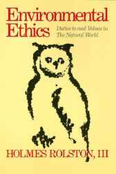 Environmental Ethics by Holmes Rolston
