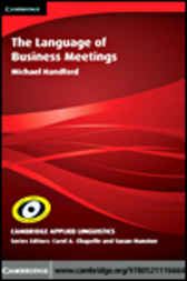 The Language of Business Meetings by Michael Handford