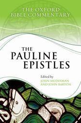 The Pauline Epistles by John Muddiman