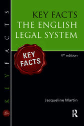 Key Facts English Legal System by Jacqueline Martin