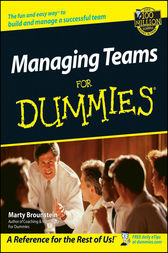 Managing Teams For Dummies by Marty Brounstein
