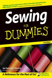Sewing For Dummies by Jan Saunders Maresh