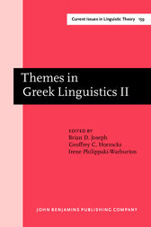 Themes in Greek Linguistics by Brian D. Joseph