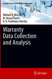 Warranty Data Collection and Analysis by Wallace R. Blischke