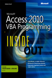 Microsoft Access 2010 VBA Programming Inside Out by Andrew Couch
