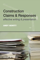 Construction Claims and Responses by Andy Hewitt