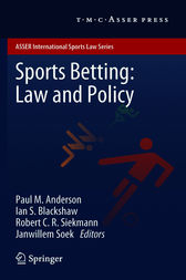 Sports Betting: Law and Policy by Paul M. Anderson