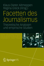 Facetten des Journalismus by Klaus-Dieter Altmeppen