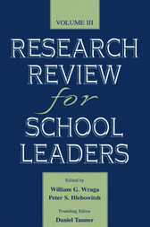 Research Review for School Leaders by William G. Wraga