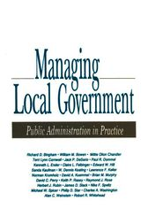 Managing Local Government by Richard D. Bingham