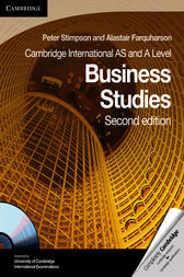 Cambridge International AS and A Level Business Studies Coursebook by Peter Stimpson
