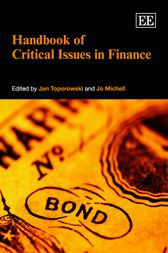 Handbook of Critical Issues in Finance by Jan Toporowski