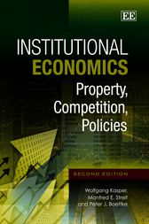 Institutional Economics by Wolfgang Kasper