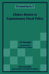 CHINA'S RETURN TO EXPANSIONARY FISCAL POLICY